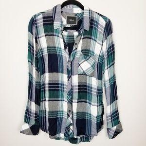 Rails plaid check flannel shirt